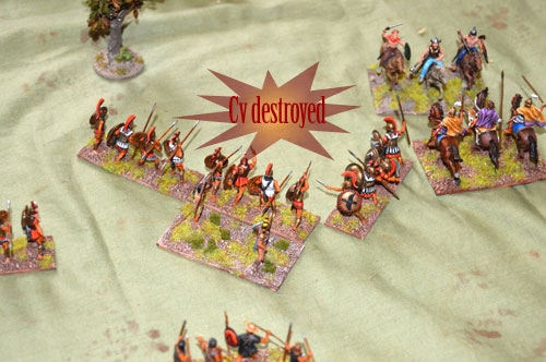 Cavalry destroyed by spears