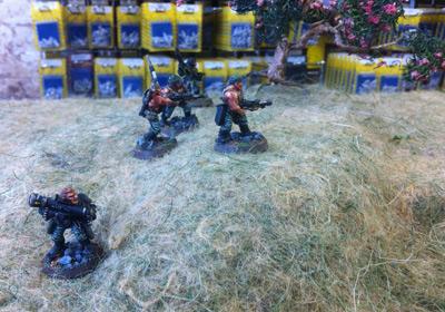 Squad advancing