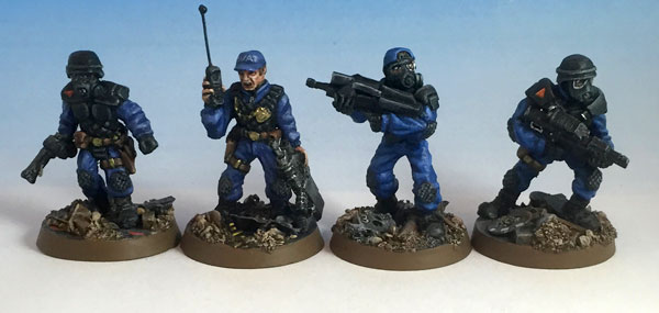 SWAT team sculpts