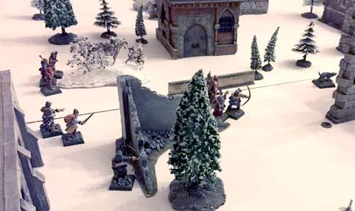 Frostgrave warband deploys