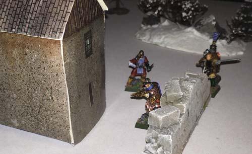 Rowan's warband advance