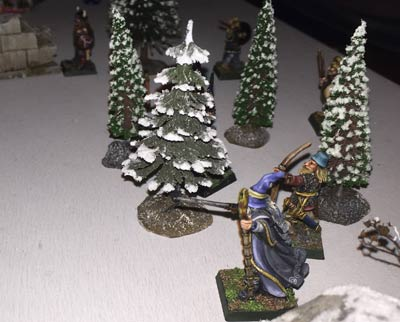 Joe's warband watch the imp from a safe distance
