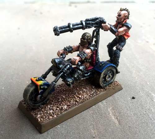 Trike with minigun